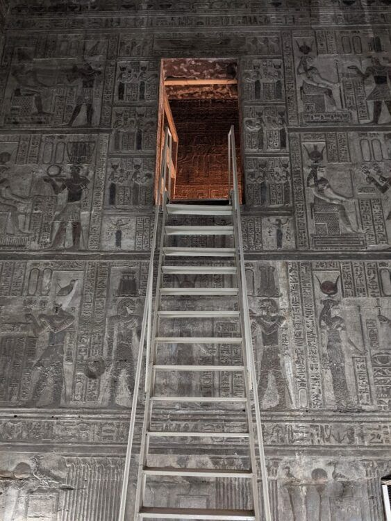 ladder inside dendera