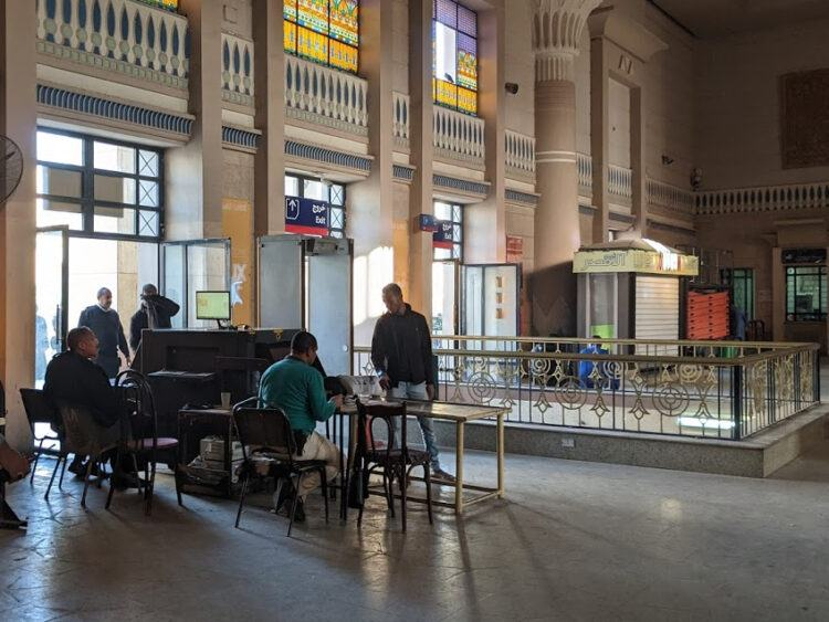 inside luxor train station