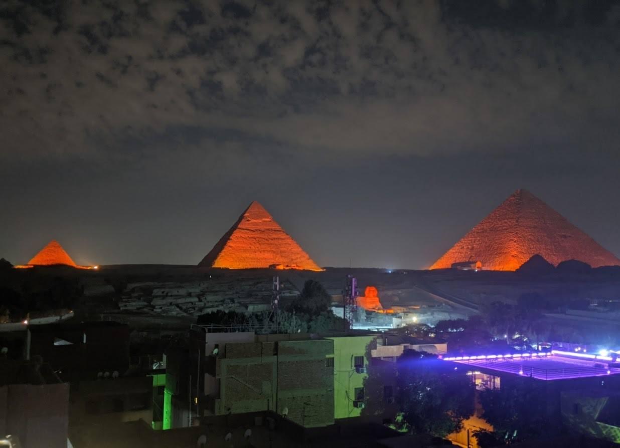 pyramids light and sound show