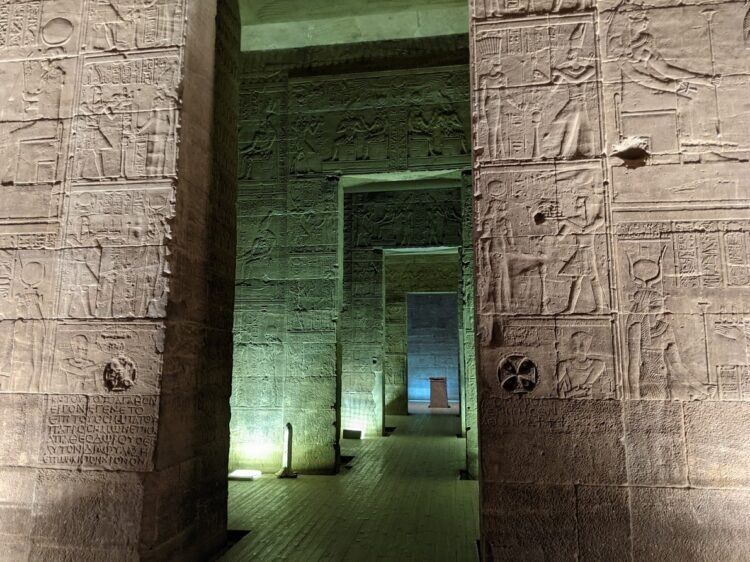 temple of philae at night