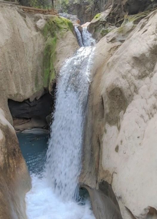 waterfall at pozas azules