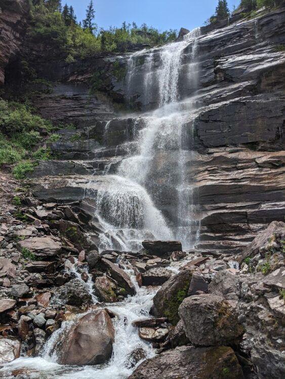 falls on bear creek trail telluride