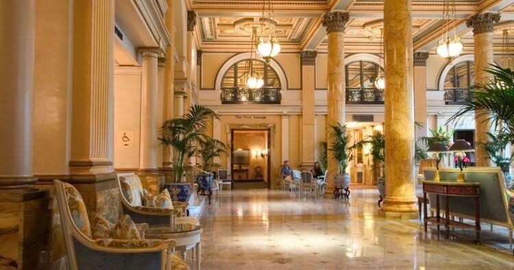 cheap five star hotel lobby