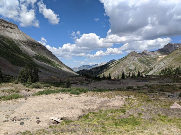 views on ouray jeep trail to telluride