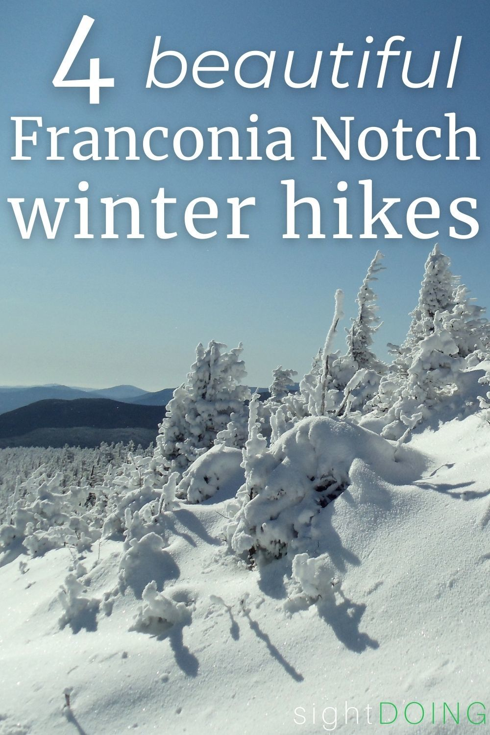 pinterest graphic 4 franconia notch winter hikes