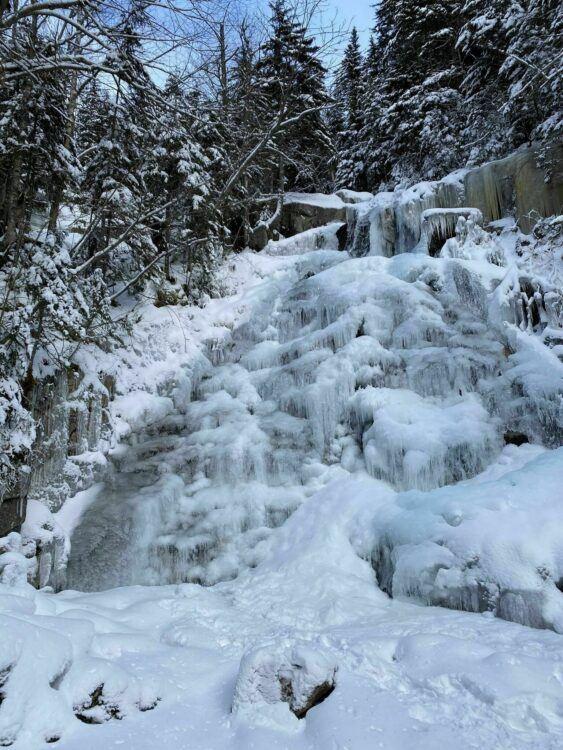 cloudland falls winter franconia notch