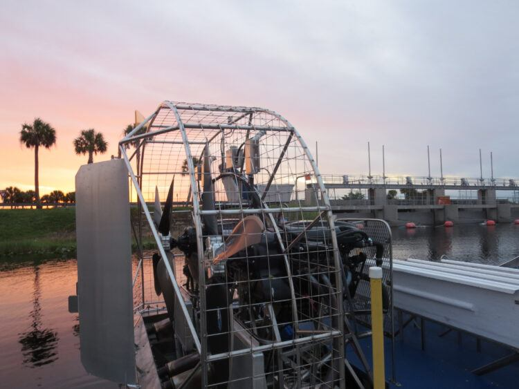 sunset airboat ride in everglades near fort lauderdale florida