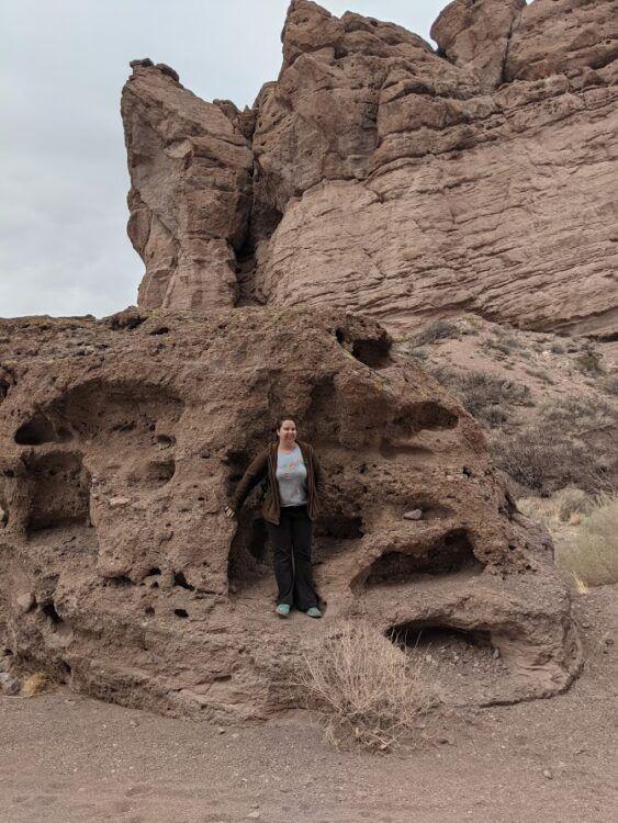 sandstone rock in san lorenzo canyon