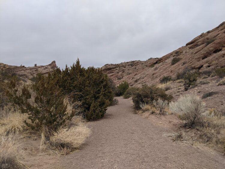 dirt trail in san lorenzo canyon