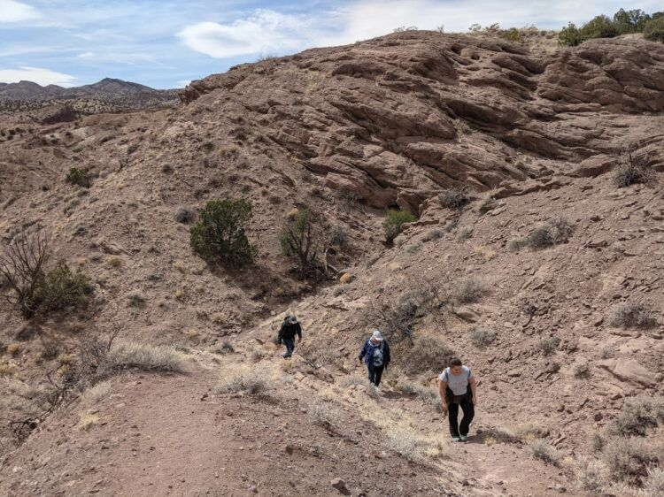 uphill hiking in san lorenzo canyon