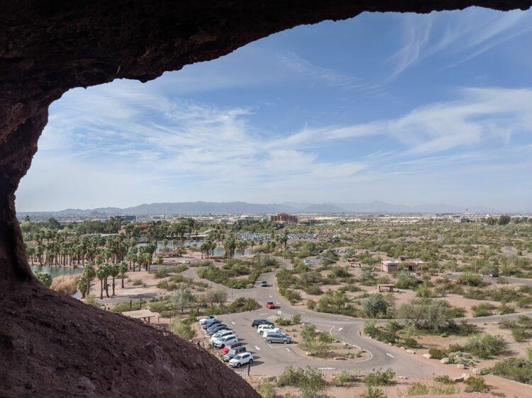 view from hole in the rock