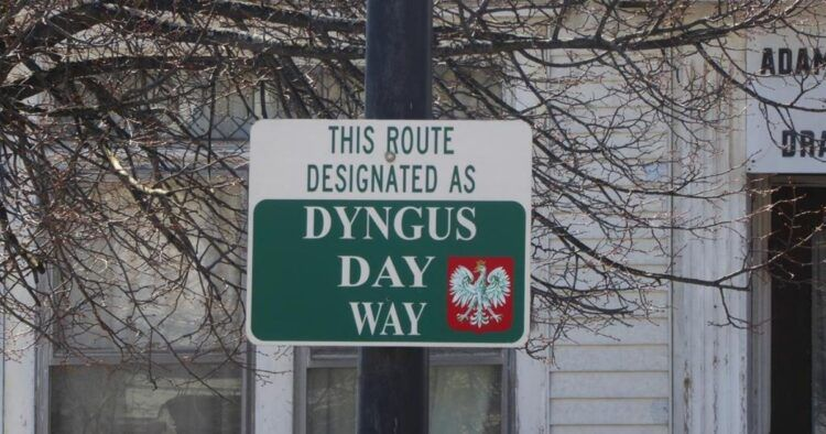 dyngus day way street sign