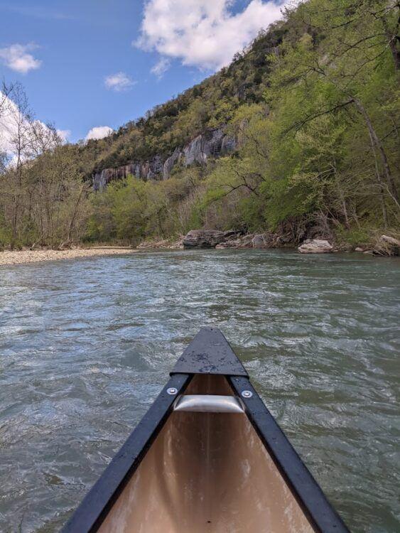 canoe on buffalo river float trip