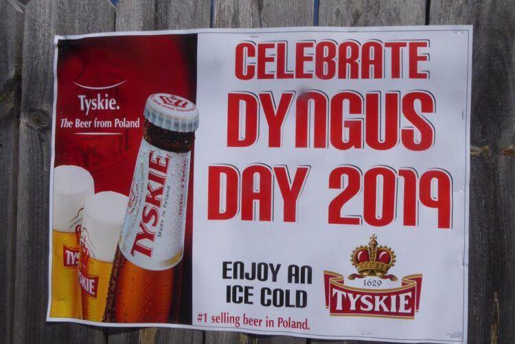 tyskie polish beer on dyngus day