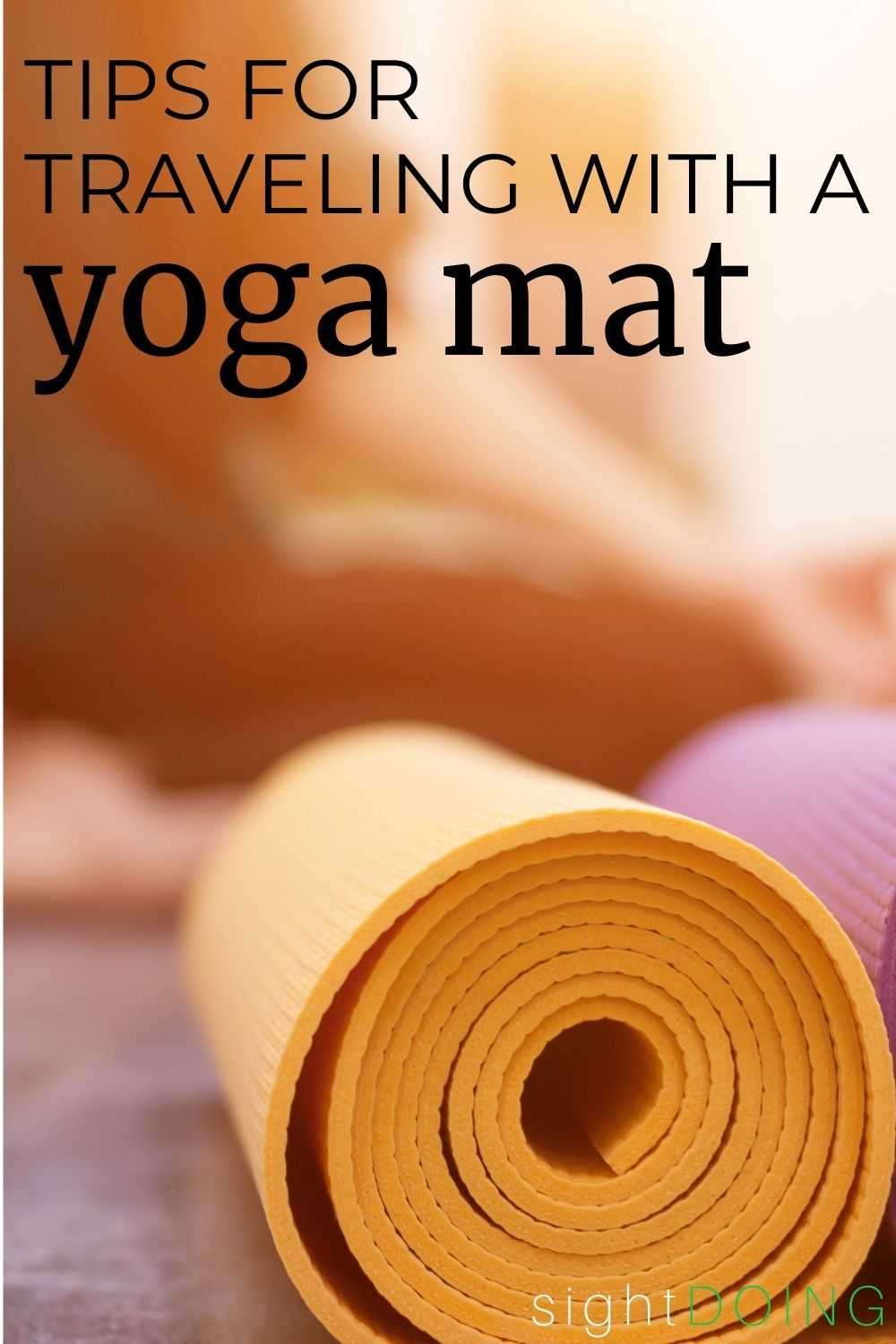 pinterest tips for traveling with a yoga mat