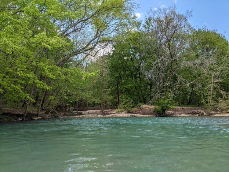 buffalo river green waters