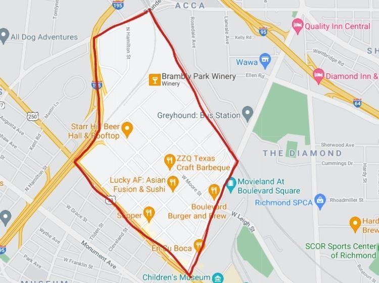 map of scott's addition in richmond