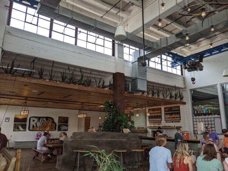 inside vasen brewing company in scott's addition (richmond va)