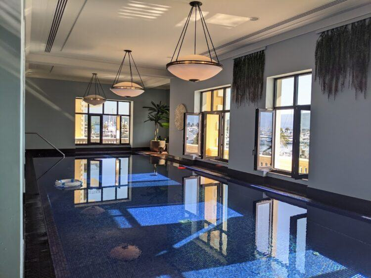 indoor pool at regent hotel