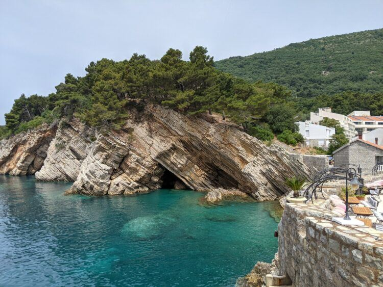 cliffs by the sea in petrovac montenegro