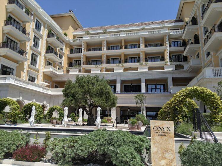 back side of regent porto montenegro hotel