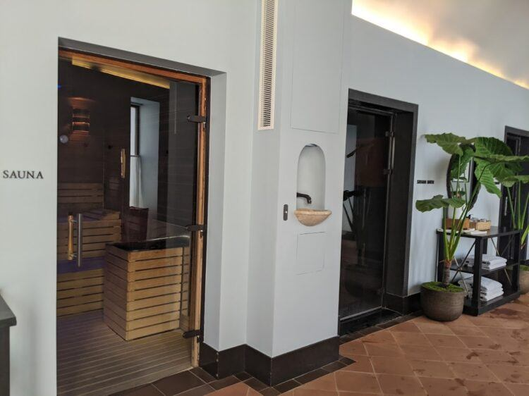sauna and other spa facilities