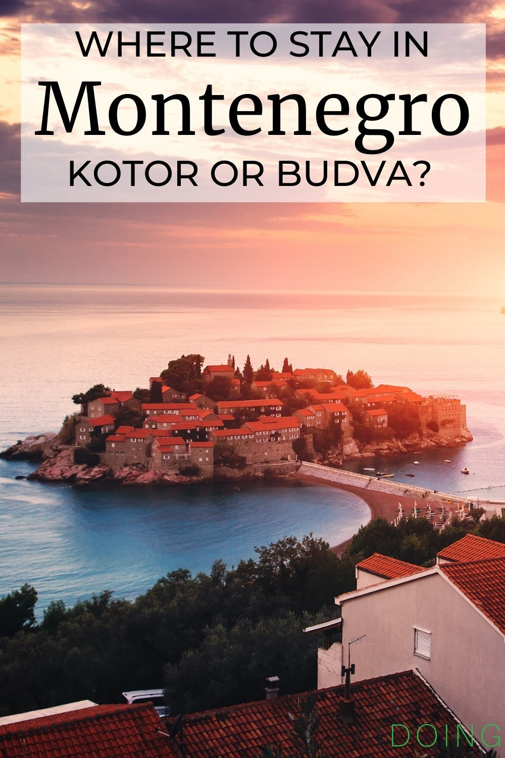 where to stay in montenegro pin