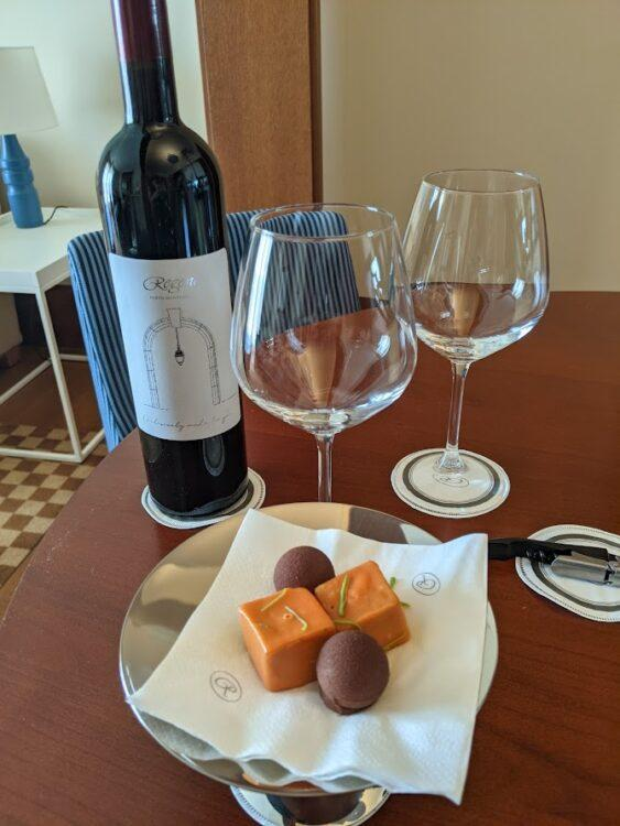 wine and petit fours