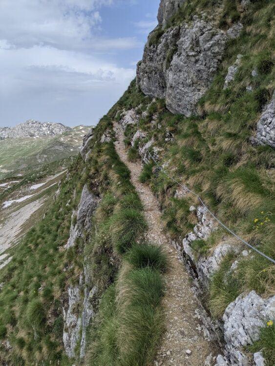 narrow ridgeline trail