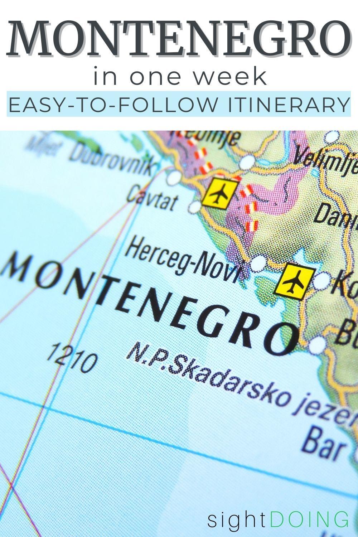 montenegro itinerary pin